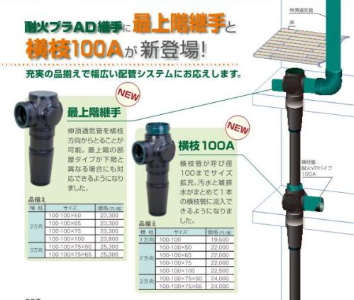 エスロンプラスチック 単管式排水システム